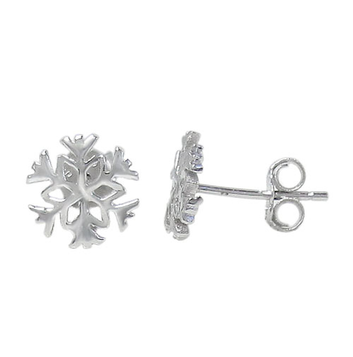 Snowflake post earring