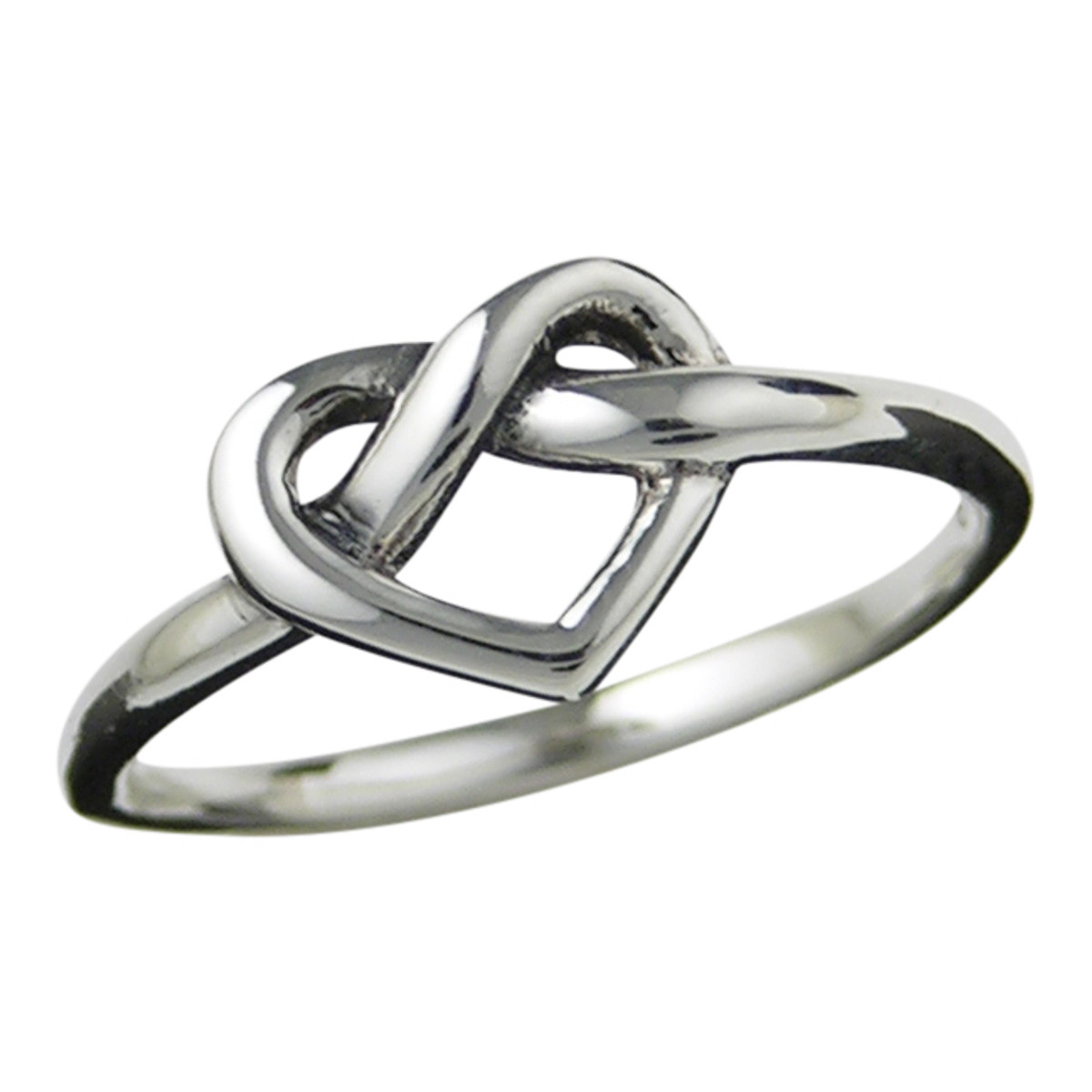 Heart love knot ring