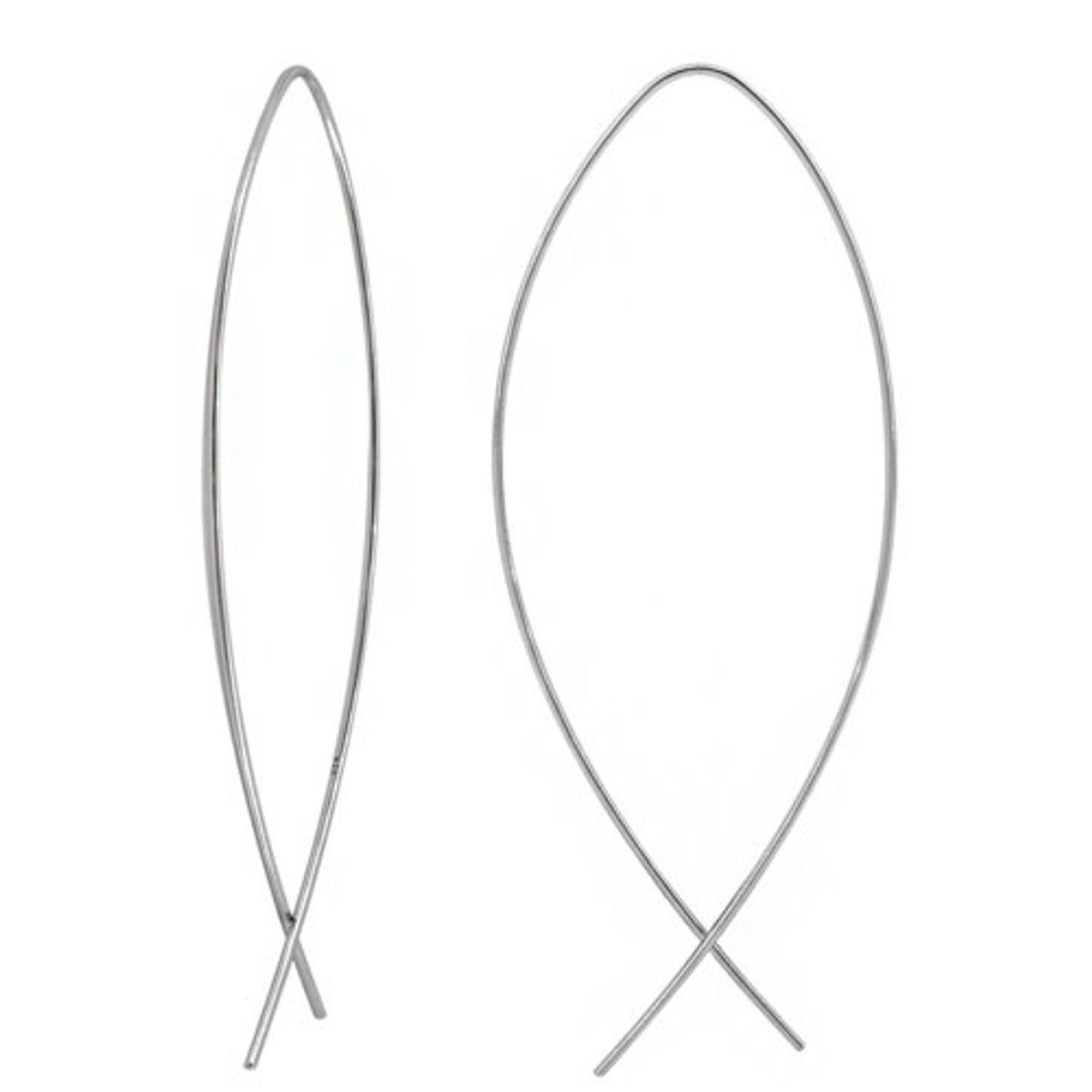Wire pull through earring