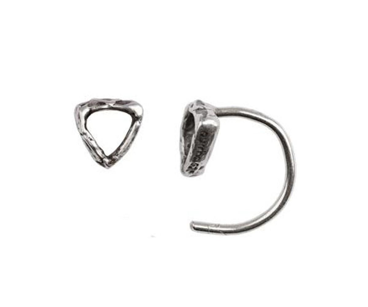 Open shield hug earring