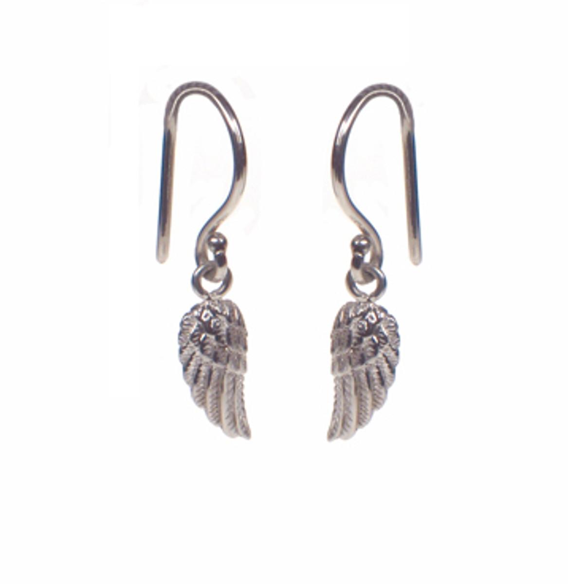 Mini wing hook earrings