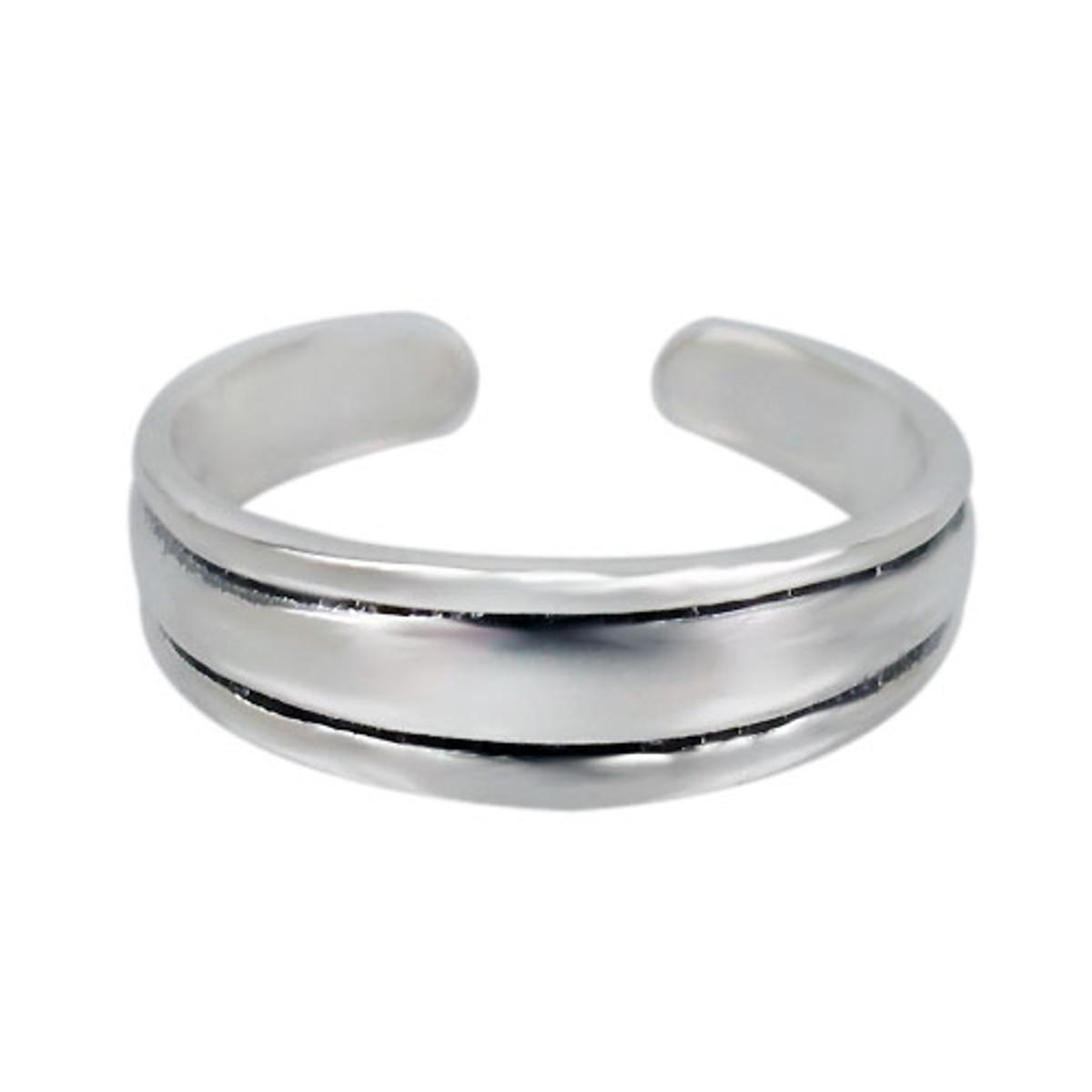 3 band toe ring
