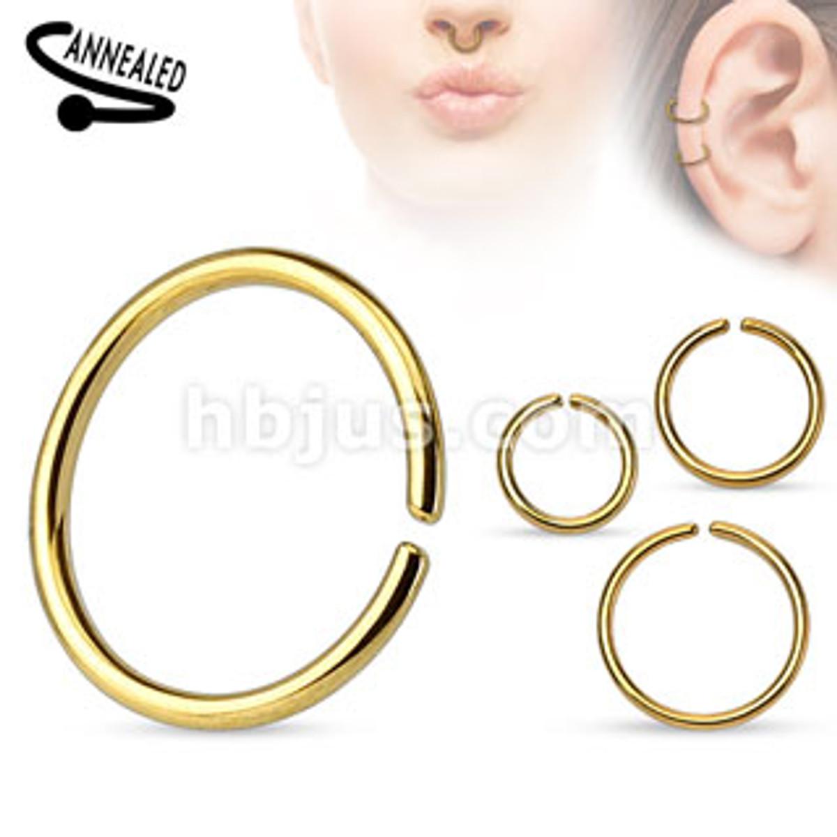 6mm body ring-gold/20 gauge