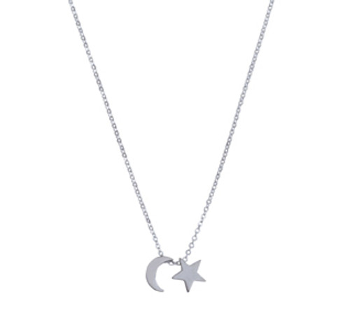 Star/moon necklace