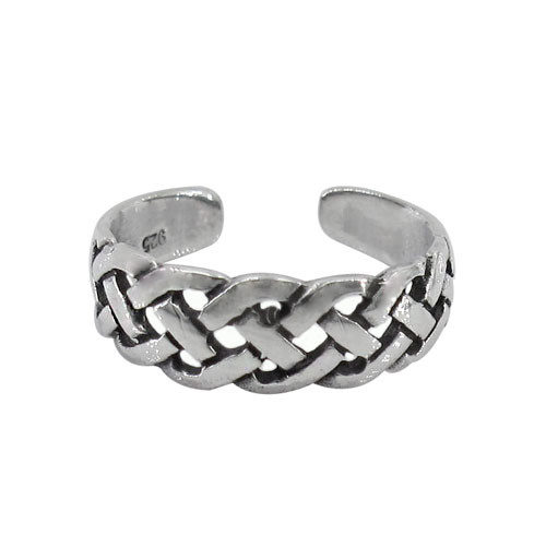 Woven toe ring