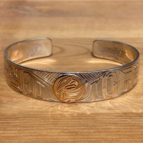 """Eagle 1/2"""" bracelet with 14k"""