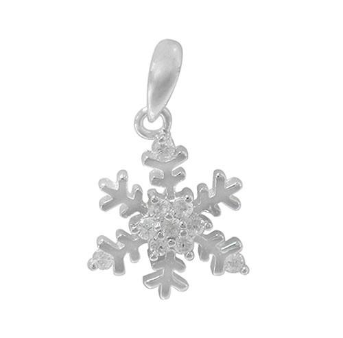 Snowflake pendant with CZ