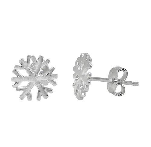Snowflake stud earring-2