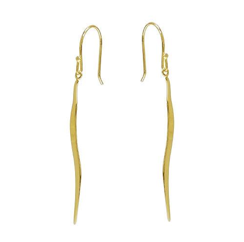 Wavy spike hook earring