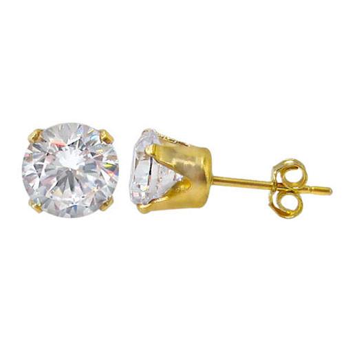 Crystal stud - gold/cz