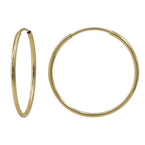Thin gold hoop earring