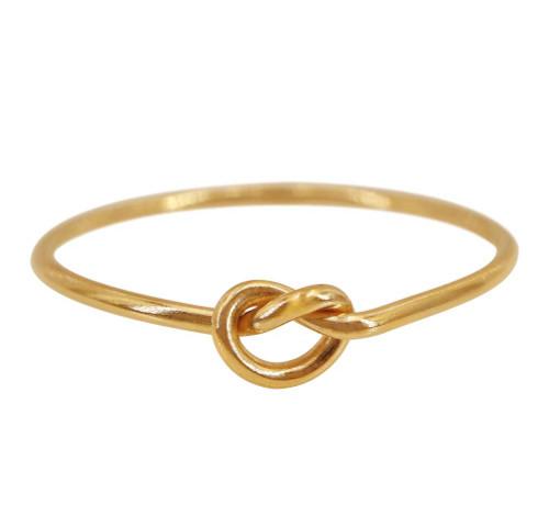 14k love knot ring