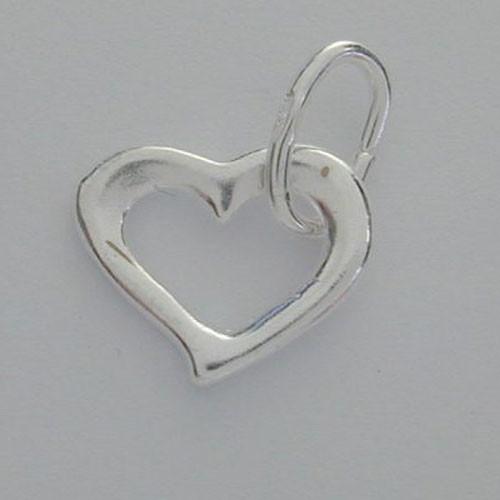heart cut out charm
