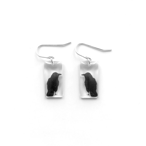 """Small crow earring 3/4"""""""