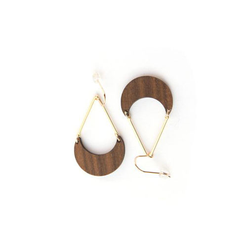 AoLoa walnut earrings