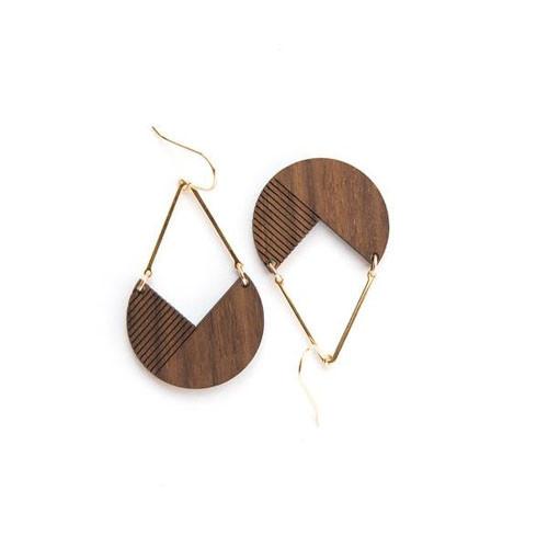 Hale walnut earrings