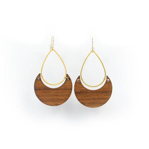 Makai earring-walnut