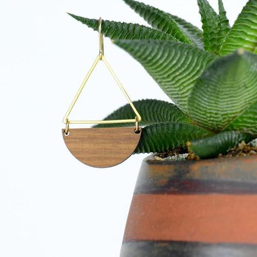 Anuenue earring-walnut