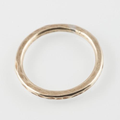 Stacking ring- 14k gold/12gauge ring