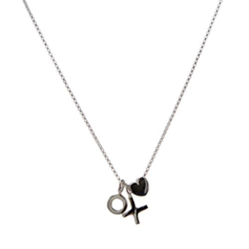 XO heart necklace