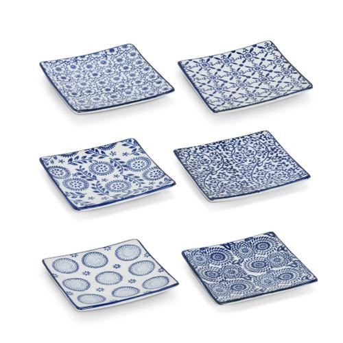 Square blue/white dish