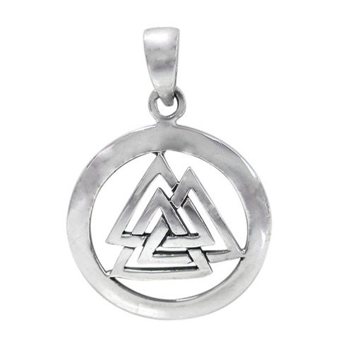 Circle 3 mountain pendant