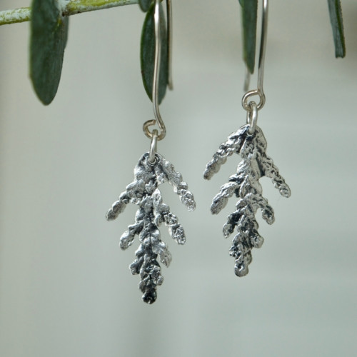 Cedar charm earrings