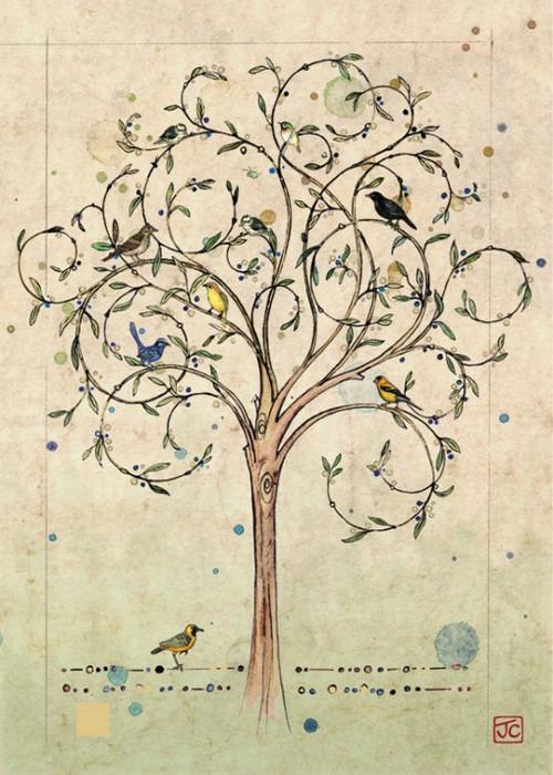 Tree -greeting card