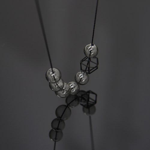 Hex Hex short necklace-glass