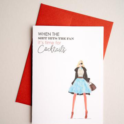 Time for cocktails- greeting card
