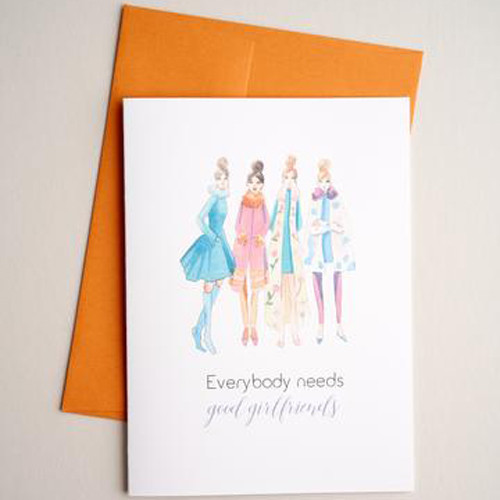 Girlfriends -greeting card