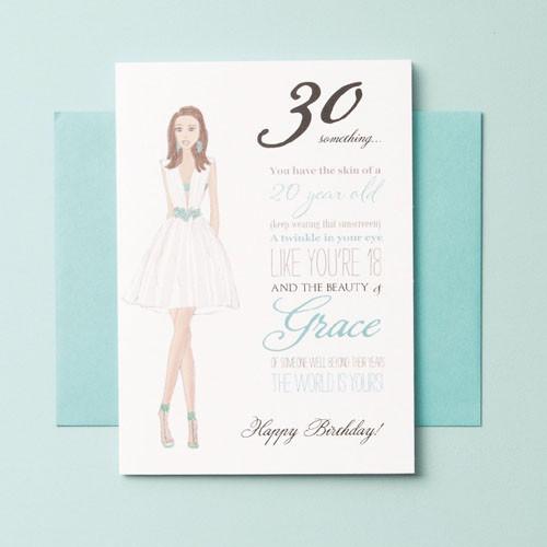30 something-birthday card