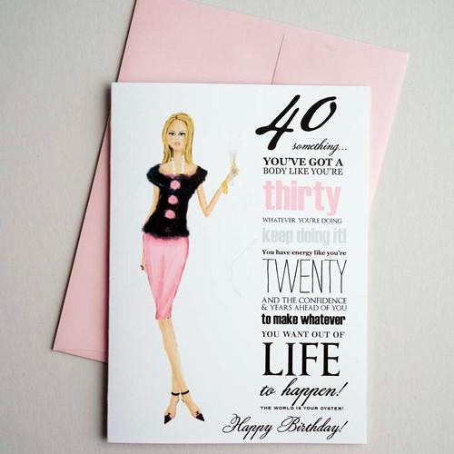 40 something -birthday card