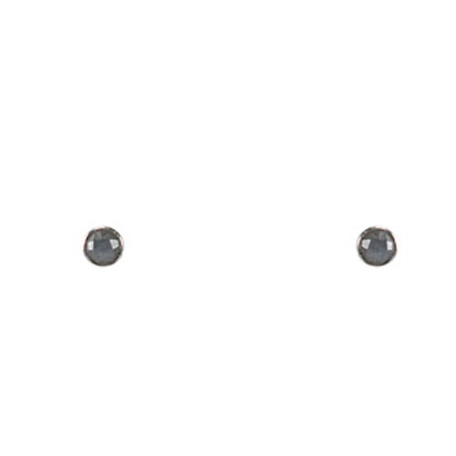 Stone post earring-labradorite