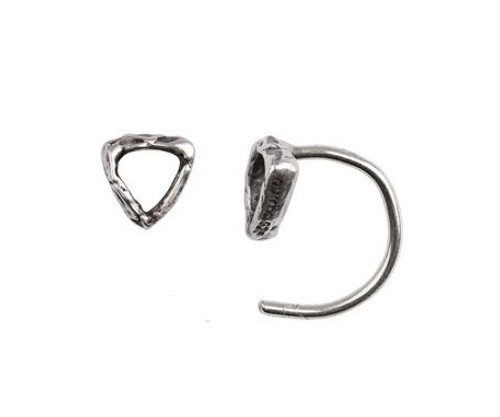 Open shield hug earring