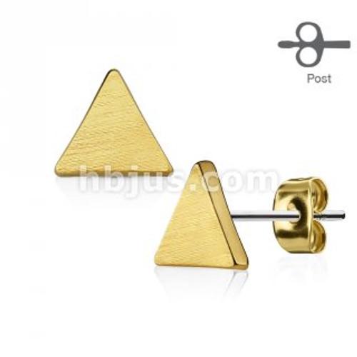 Triangle stud earring-14k plated