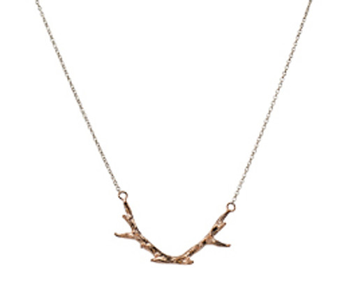 Tiny antler necklace