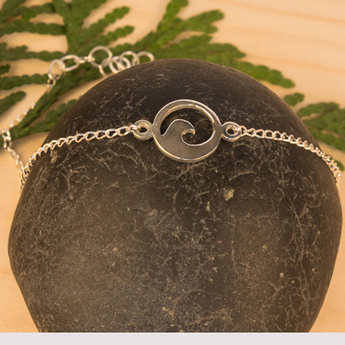 Flow silver bracelet