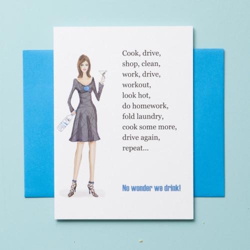Know wonder-greeting card