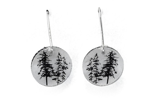 Round forest earring