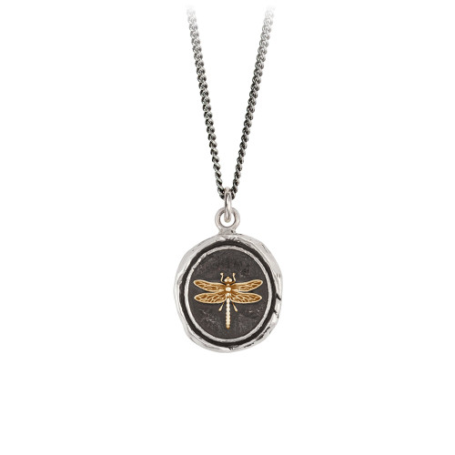 Dragonfly-14k on sterling silver