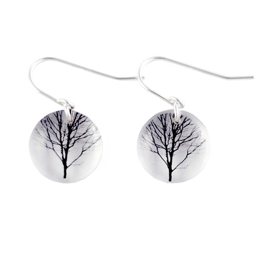 Round tree earring 1/2""