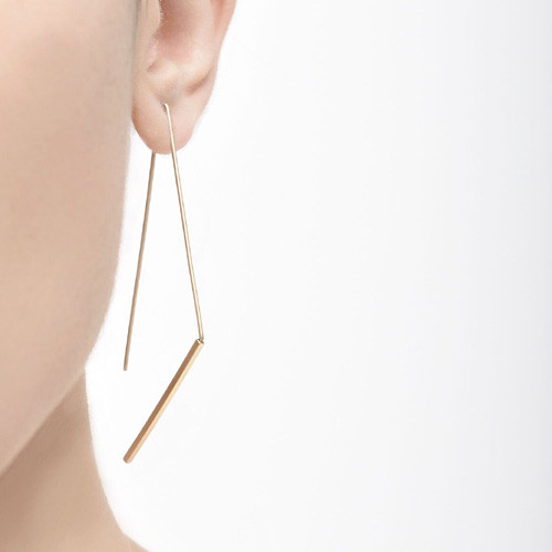 Jagged hook earrings-gold