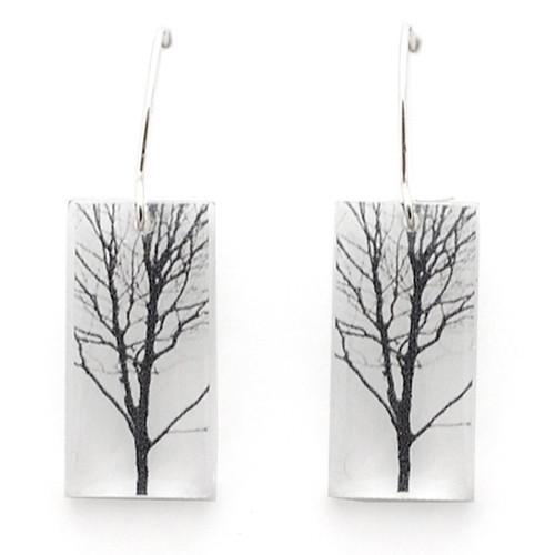 "Small tree earring 3/4"""