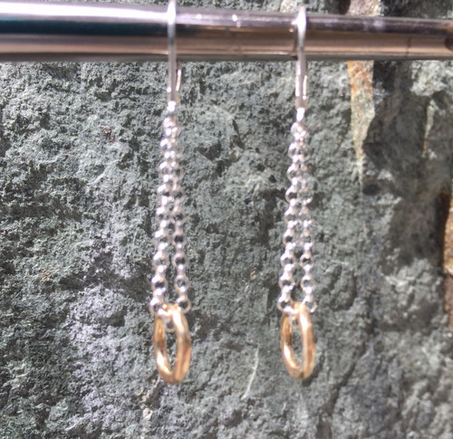 14k gold chain earring