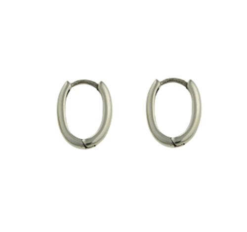 Oval huggie earring