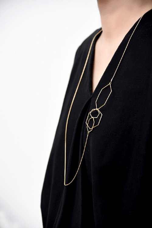 Hex long necklace