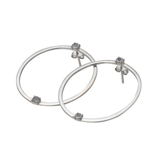 Pulse earring-rhodium