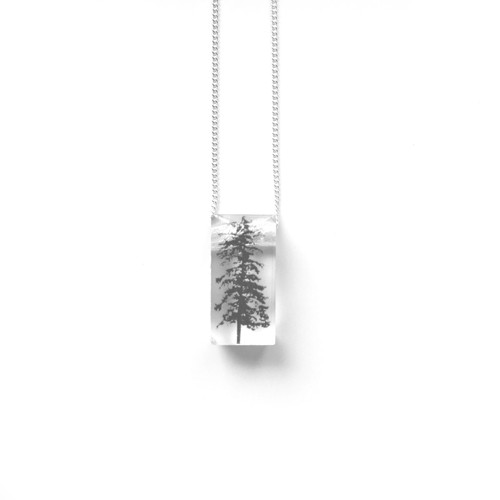 "Tiny Forest  3/4"" pendant"