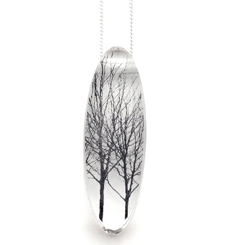 Oval  tree pendant